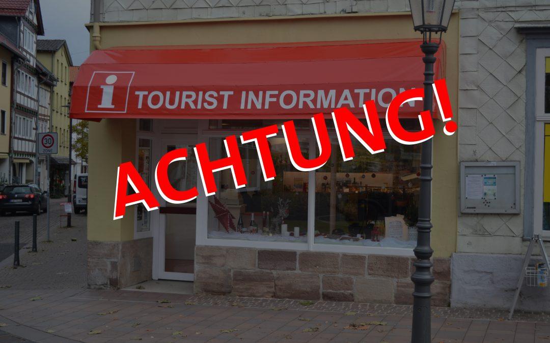 Geänderte Öffnungszeiten der Tourist-Information