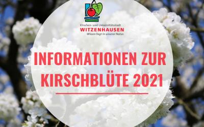 Informationen zur Kirschblüte 2021